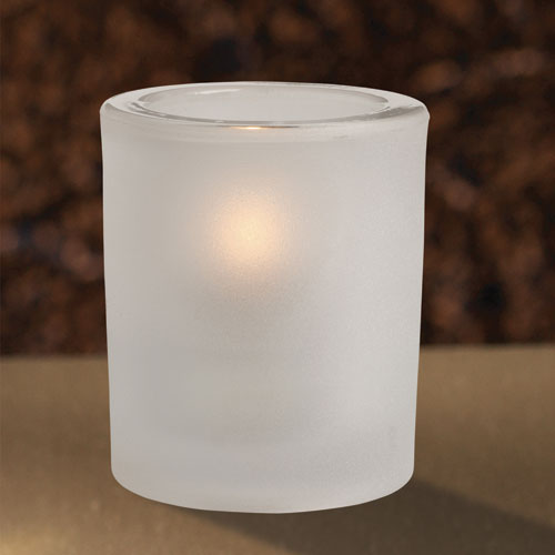 Frosted Heavy Glass Votive Holder