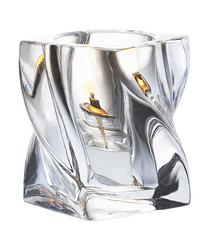 Crystal Twist Glass Candle Holder