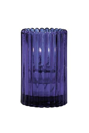 Deep Blue Glass Candle Holder