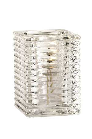 Square Clear Glass Candle Holder